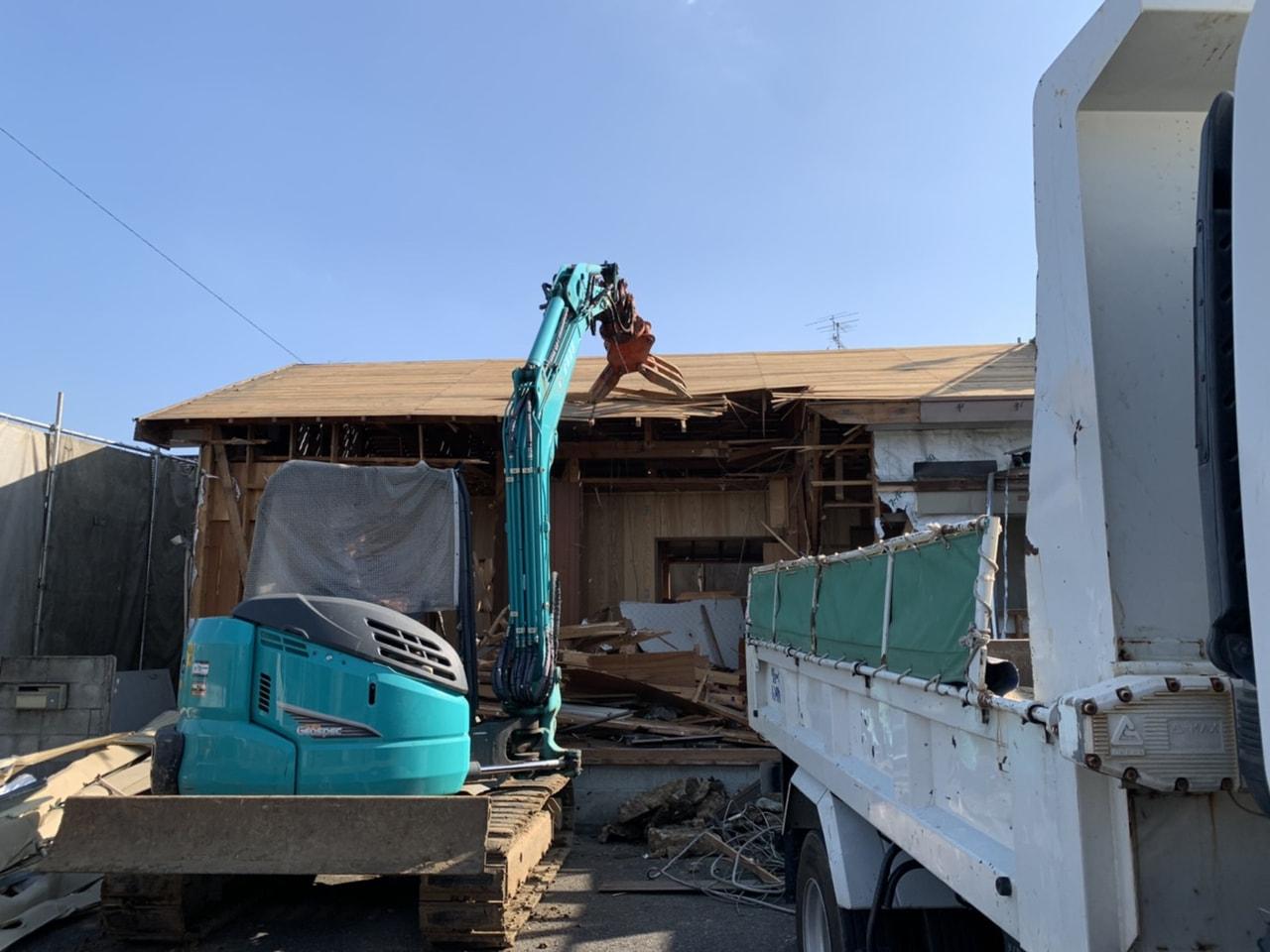 我孫子市 木造平屋建解体工事 解体前